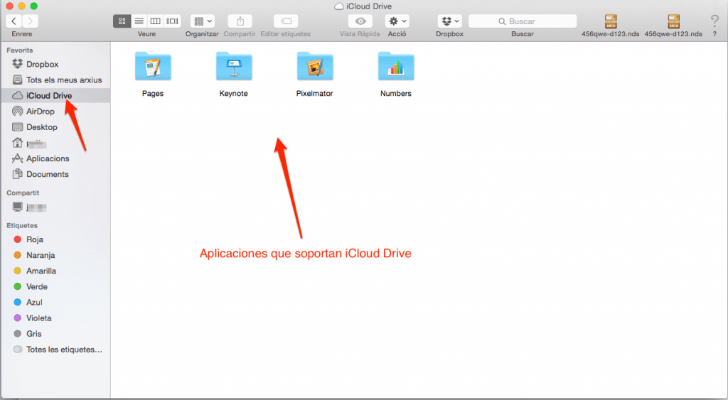 iCloud Drive en Finder