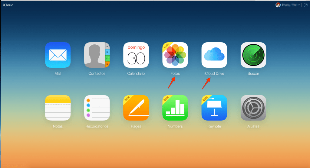 iCloud Drive versión web