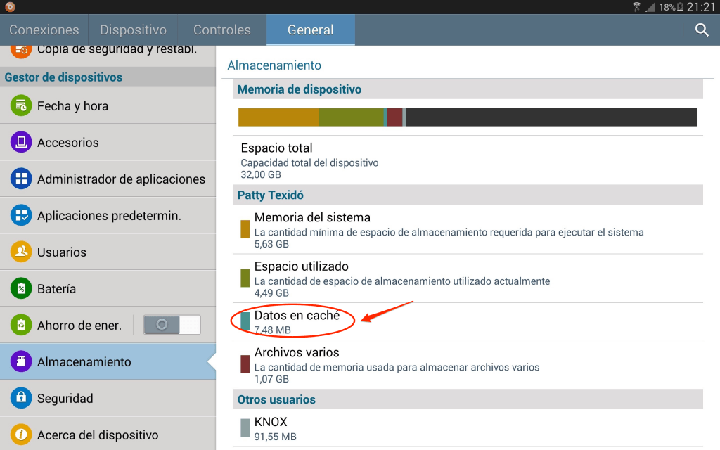 Liberar espacio en Android_borrar cache