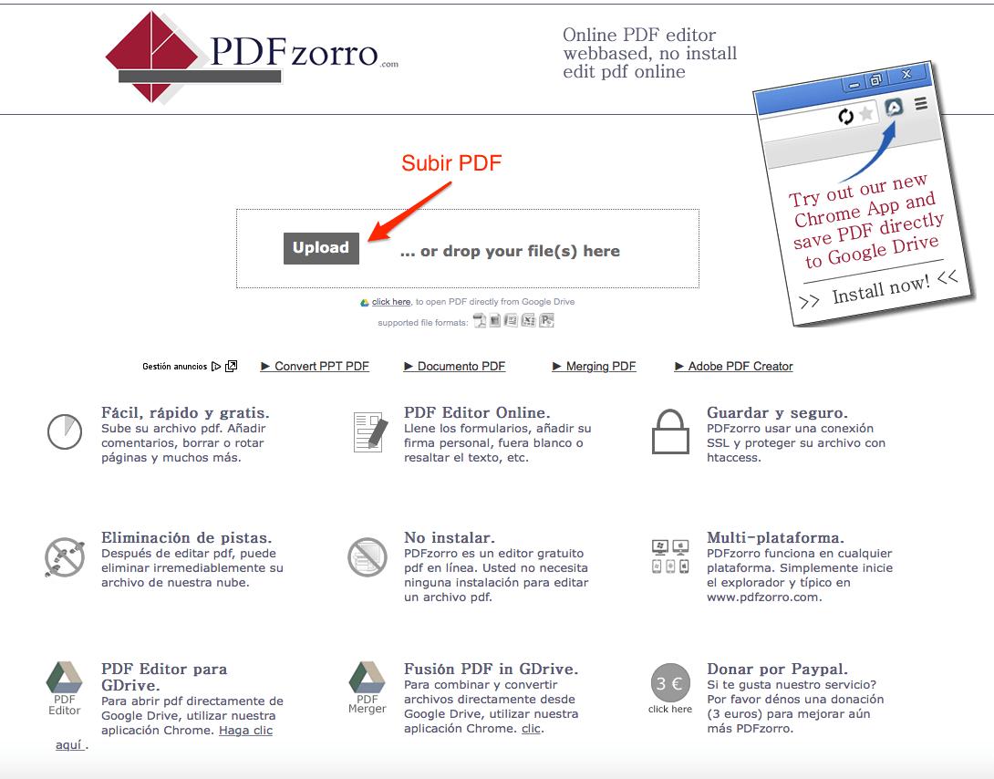 Editar un PDF_usando herramientas PDFzorro