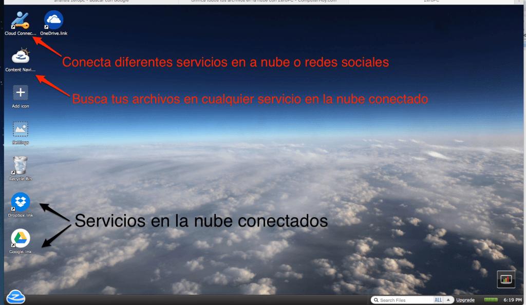 almacenamiento en la nube_escritorio Zeropc web