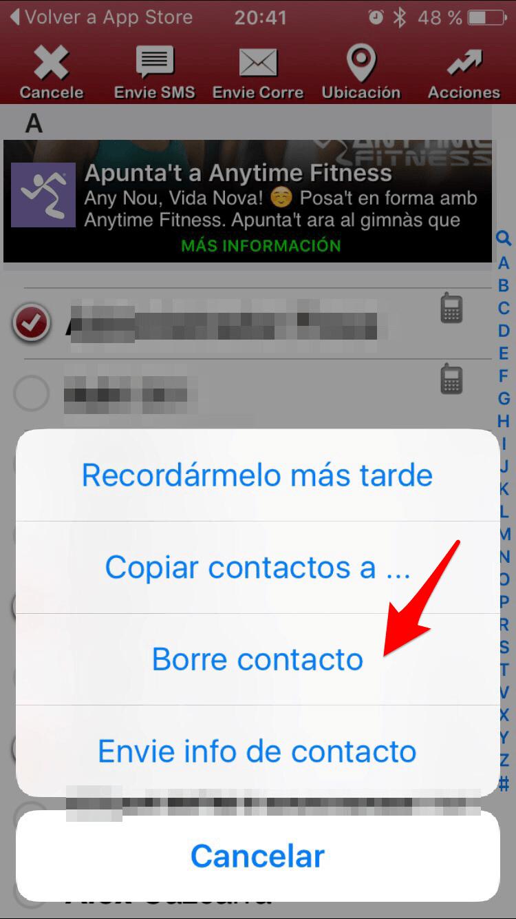 borrar multiples contactos _elimina