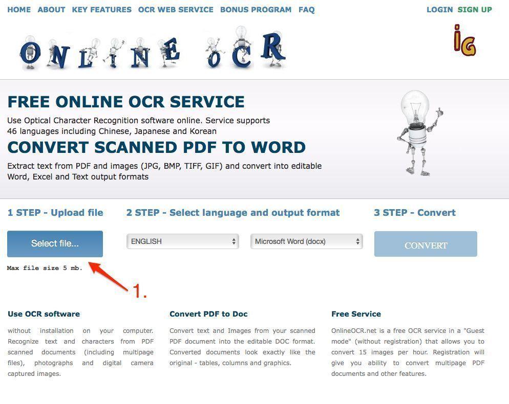 OCR _seleccionar archivo