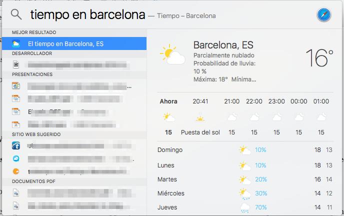 trucos para OS X El Capitan __el tiempo
