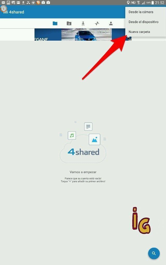 compartir archivos entre dispositivos Android 4