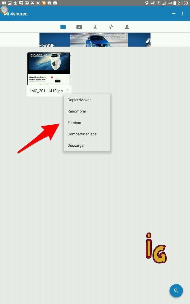 compartir archivos entre dispositivos Android 6