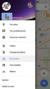 google maps sin conexion menu