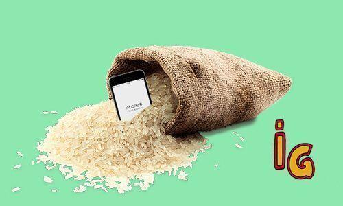 Mojado el mobil_saco arroz