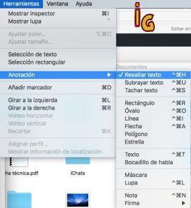 Vista previa de Mac _Anotaciones en PDF