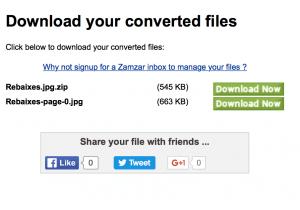 convertir archivos online _descarga del archivo en el formato deseado o en zip