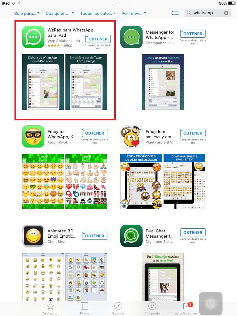 WhatsApp en tu iPad