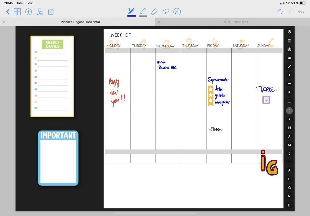 Agenda digital PrintStick