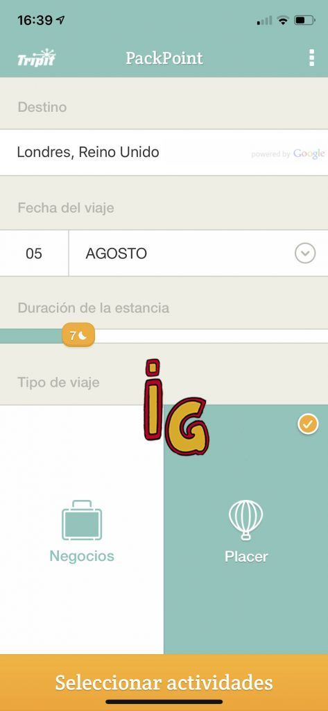 PackPoint app compatible con Android e iOS