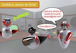 cambia tu usuario de Gmail