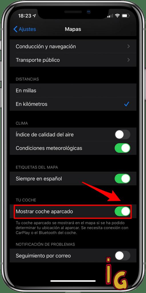 Siri te recuerda tu aparcamiento