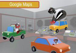 Flecha azul de Google Maps