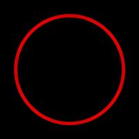 anillo led rojo