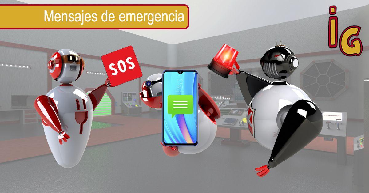 Mensajes de emergencia Android