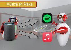 Vincular tu cuenta de Spotify o Apple Music con Alexa