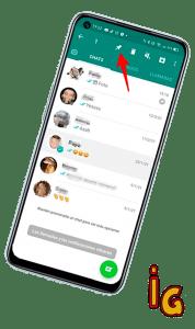 Fijar un chat en Android