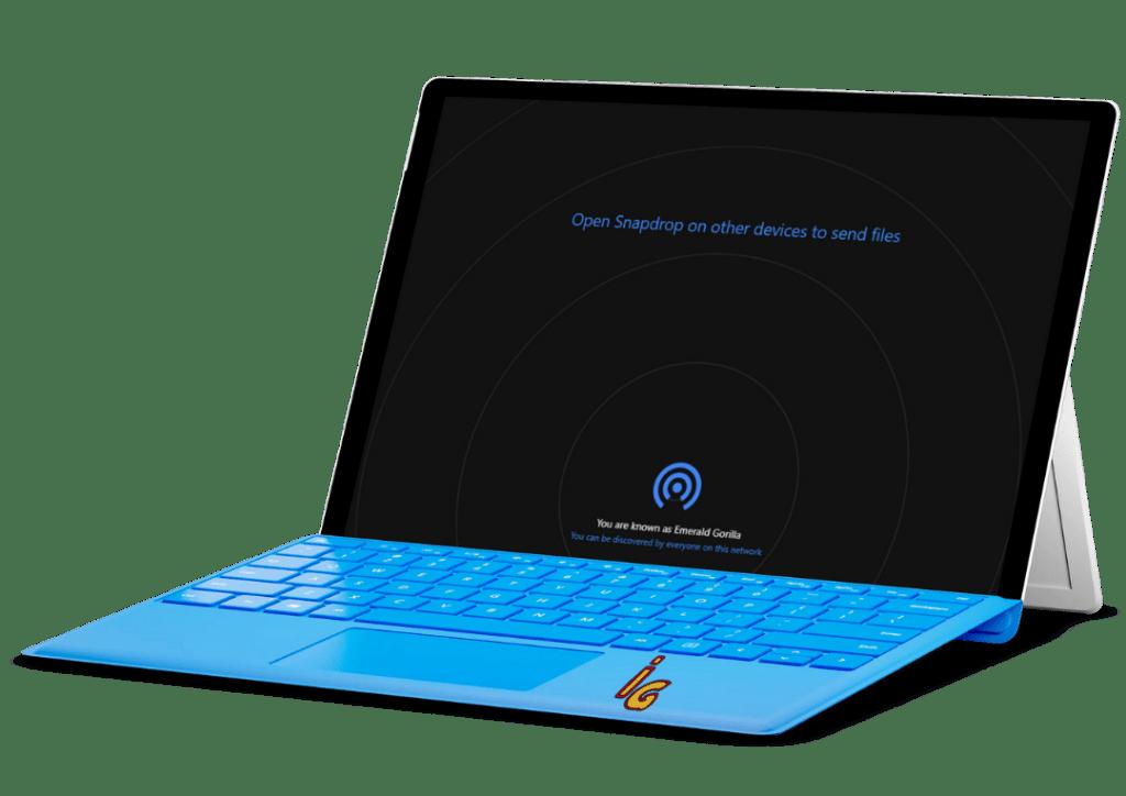 Airdrop en el PC con Snapdrop (vista PC)v2