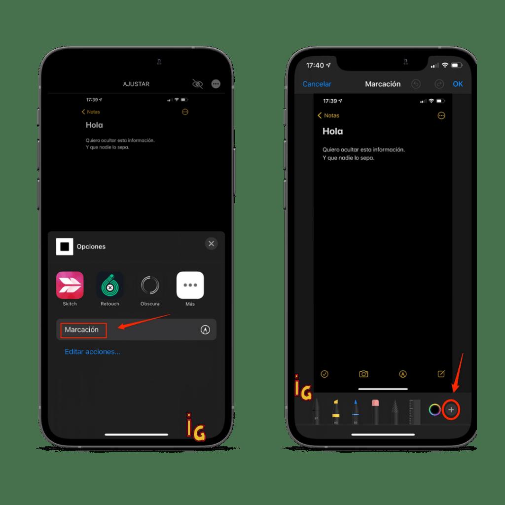 captura de pantalla pasos 3 y 4