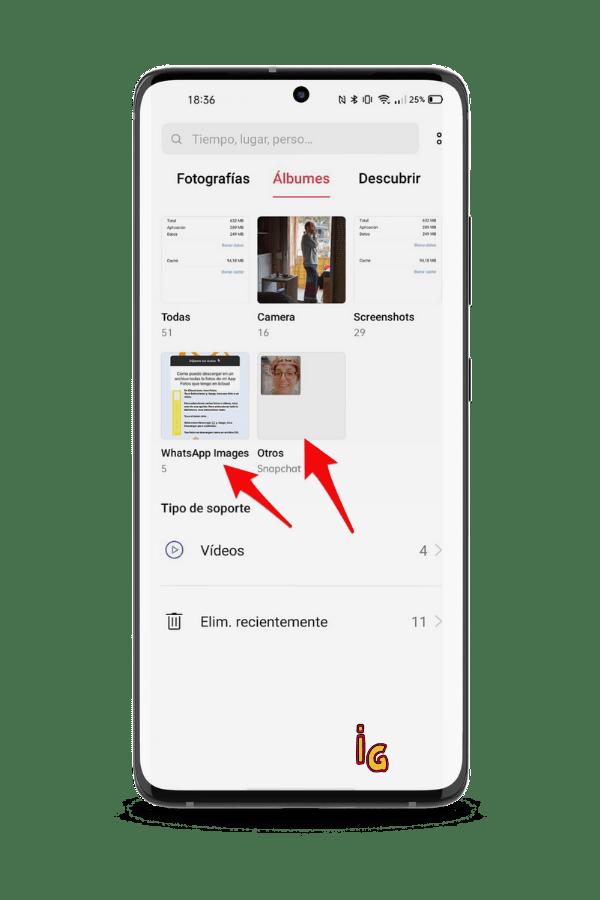 liberar espacio de tu Android _ otros albumes